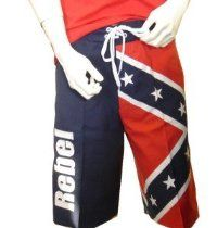 458c12cd8e Rebel Confederate Flag Boardshort - Board Shorts Size Large Rebel Flag  Shorts, American Flag Shorts