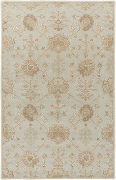 Surya Caesar CAE1163 Green/Neutral Classic Area Rug