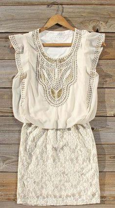 Gold Studs + Lace Dress <3 #mothersday #giftidea