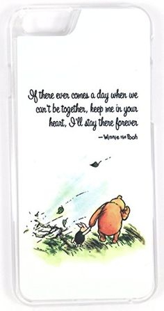"""Walt Disney Winnie The Pooh """"Stay There Forever"""" Quote (iPhone Clear Hard Plastic Phone Case/Cover Phone Case Store, Diy Phone Case, Cute Phone Cases, Iphone 7 Plus Cases, Iphone 6, Love Quotes Photos, Disney Phone Cases, Forever Quotes, Aesthetic Phone Case"""