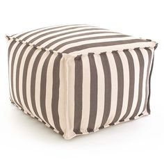 Our poufs are made of durable polypropylene and filled with polystyrene beads, making them perfect for the porch or patio, kids rooms, even the boat!