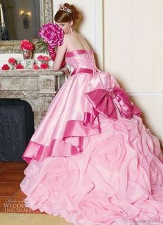 weddinginspirasi:  Pink princess! Barbie Bridal 2010 on Wedding Inspirasi.    I love pink wedding gowns!!!