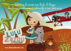 Illustrateur jeunesse – carte postale Lulu et Zazou