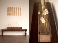 DIY sleek-modern-wedding-style-ideas-dandelion-puffs-vintage-book-pages-dandelion-wine