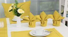 Schön gefaltete sind Servietten eine hervorragende Tischdekoration.