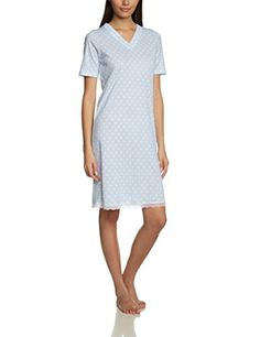 Huber - Da. Sleepshirt Kz.A., Camicia da notte da donna, Multicolore(mehrfarbig (light blue 6790)), taglia produttore: 36 Huber http://ebay.to/1ME7pvn