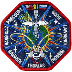 This was the twenty-fourth Discovery flight. STS 91 marked the final Shuttle/MIR Docking Mission. This Phase 1 Program is a precursor to the International Space Station maintaining a continuous Americ Electromechanical Engineering, Space Patch, Nasa Patch, Secret Space, Sunflower Wallpaper, International Space Station, Space Program, Astrophysics, Fractals
