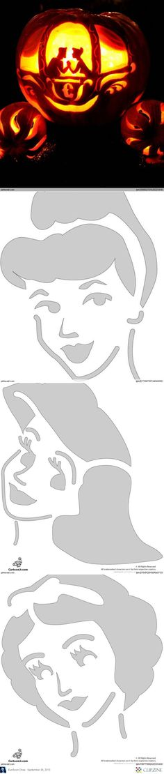 Disney Princess Pumpkin Carving Templates