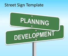 Free Street Sign PowerPoint template is an original presentation template for marketing presentations but also useful for other presentation needs that contains nice slides with street signs
