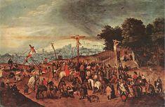 """Bruegel Pieter the Younger (1564 - 1638) """"Распятие"""". 1617 год."""