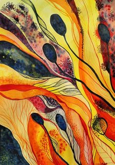zzen: watercolour, aquarelle, paintings | Organic Zuzana Mezencevova