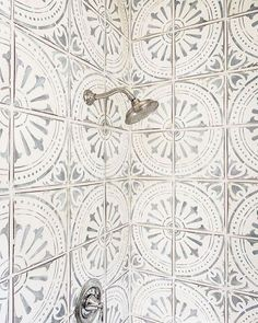 For the first time in a while the house is still so it's time for a bit of project planning - bathroom and shower room are next on the list.  How gorgeous is this tile? Haven't been able to locate anything with a similar faded grey pattern. Would love to hear any recommendations? Image via Pinterest.