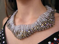 Art deco Gatsby collar necklace
