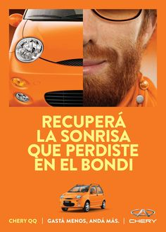 Print advertisement created by Braga Menendez, Argentina for Chery, within the category: Automotive. Creative Advertising, Advertising Agency, Advertising Poster, Best Ads, Car Posters, Ad Design, Car Insurance, Print Ads, Creative Director