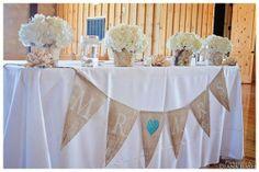 Mr loves Mrs burlap Wedding Banner by expressionsindesign