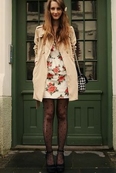 cute tights/dress combo