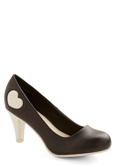 Follow My Heart Heel in Black | Mod Retro Vintage Heels | ModCloth.com