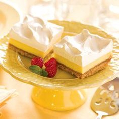 Frozen Lemon Squares - this sounds fresh and cool as a summer treat!  Not too sweet!