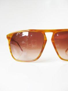1970s Italian Sunglasses Authentic Vintage Deadstock Honey Tortoiseshell Light Demi Blonde 70s Aviator Sunnies Guys Unisex Oversized Sunwear