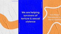 Templo rebrands charity Survivor of Torture with help from asylum seekers and students Graphisches Design, Event Design, Layout Design, Graphic Design, Brand Identity Design, Corporate Design, Branding Design, Stationery Design, Brochure Design