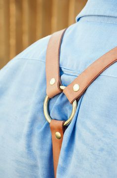Handcrafted Leather Suspenders // AmericanNative, $70.00