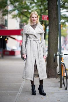 15 Hot Coats, 15 Cool New Yorkers from 1 of my fav blogs R29-this Rick Owens jacket is the best!