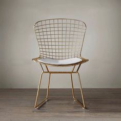 Source Replica Harry Bertoia Rose Gold Metal Wire Mesh Outdoor Chair For Cafe on m.alibaba.com