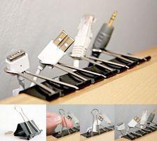 Binder Clips = Cord Organizers #diy #crafts