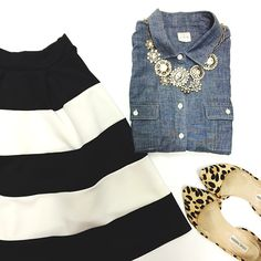 Chambray, stripes, and leopard