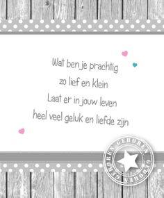 Gedichtje geboortekaartje, lief!