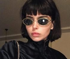 Find images and videos about girl, hair and black on We Heart It - the app to get lost in what you love. Aesthetic Hair, Bad Girl Aesthetic, Hair Inspo, Hair Inspiration, Short Grunge Hair, Tumbrl Girls, Grunge Girl, Hairstyles With Bangs, Hair Looks