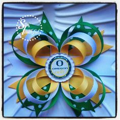Oregon Cutie, Oregon Ducks triple loop hair bow on Etsy, $5.50