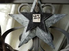 Zinc star with number