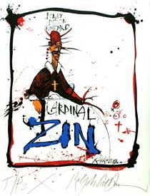Cardinal Zin by Ralph Steadman Hunter Thompson, Ralph Steadman, Wine Art, Illustrators, Graphic Art, Concept Art, Art Drawings, Sketches, Artwork