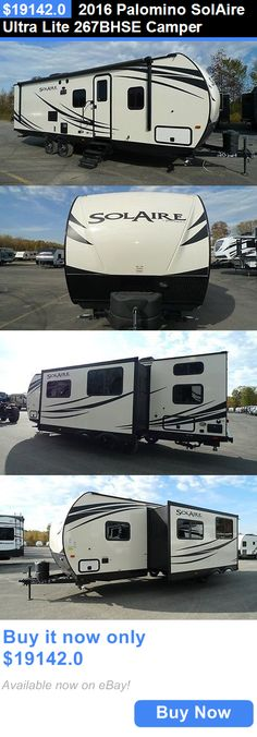 rvs: 2016 Palomino Solaire Ultra Lite 267Bhse Camper BUY IT NOW ONLY: $19142.0