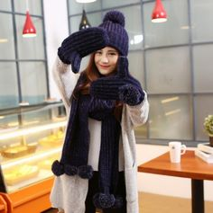 Hairball hat scarf and gloves set for student knit patterns