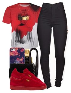 """Rihanna❤️."" by tayloryvonne1 ❤ liked on Polyvore featuring Casio, Casetify, Chanel, Puma and BERRICLE"