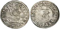 COIN, Sweden, Gustav Vasa (1521-1560), 1/2 Mark, 1540 -- Gustav Vasa (1521-1560), 1/2 Mark 1540, Västerås. Ahlström 151 b.