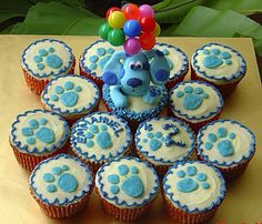 Blues Clues!  I wish they had this idea around when my daughter was 2. Instead we had a blues clues cake. This would have been perfect.