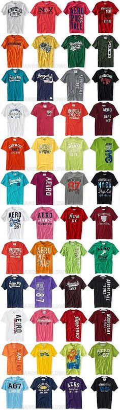 Shirts 50976: Aeropostale Mens T-Shirt Lot Of 100 You Choose Sizes Nwt Wholesale Resale Shirts -> BUY IT NOW ONLY: $800 on eBay!