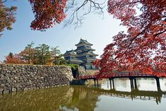 Matsumoto Castle And Moat In Autumn