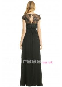 Floor-Length Lace Zipper A-Line Formal Gowns