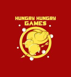 Hungry Hungry Games t-shirt.  Hippos love marbles.