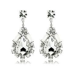 Water Drop Shaped Diamond Earrings (buy 1 get 2 free gifts) – USD $ 9.99