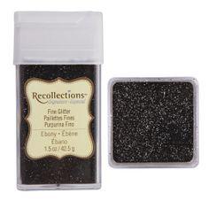 Recollections Signature Fine Glitter, 1.5 oz. Ebony