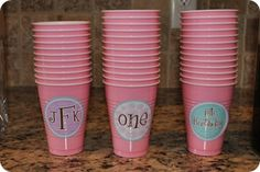 Use stickers to personalize cups
