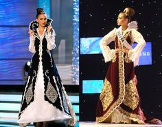 Gowns inspired by the Albanian wedding gown, Dallame.