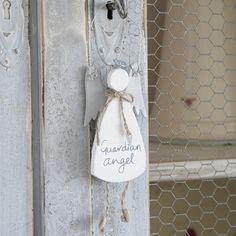 Hanging Guardian Angel-White