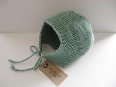 Seafoam Merino wool baby bonnet