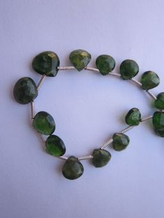 Green Tourmaline Faceted Almond